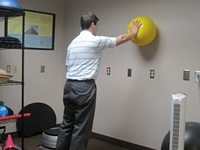 Shoulder Stability Exercises With Ball on Wall