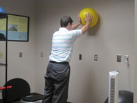 Two hands On Exercise Ball Start Shoulder Stability Exercise